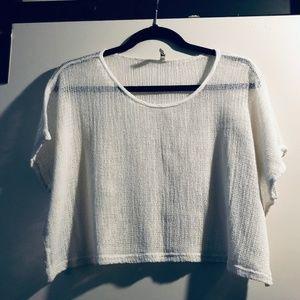 NWOT Short Sleeve Mini Net Crop